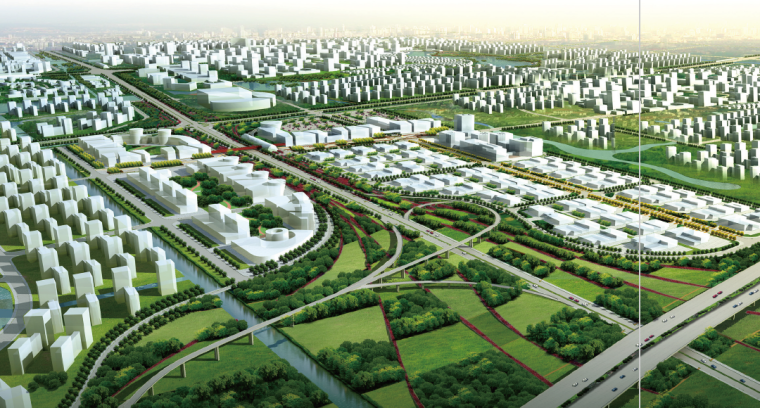 [江苏]南通经济技术开发区景观飘带设计方案-绿道景观设计效果图