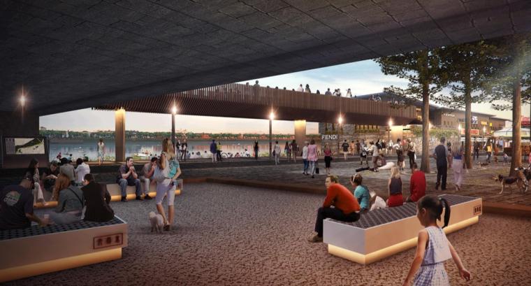 [江西]抚州历史文化街区滨河景观设计方案-休闲活动场地效果图