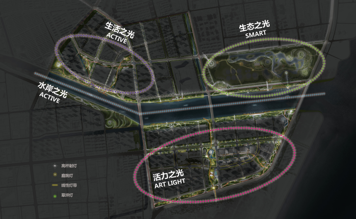 [山东]青岛海洋活力滨海广场绿地景观设计-照明设计