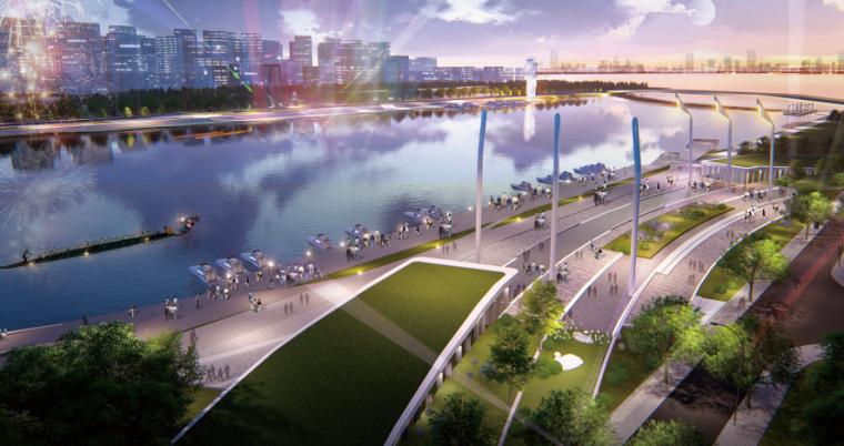 [山东]青岛海洋活力滨海广场绿地景观设计-庆典广场效果图