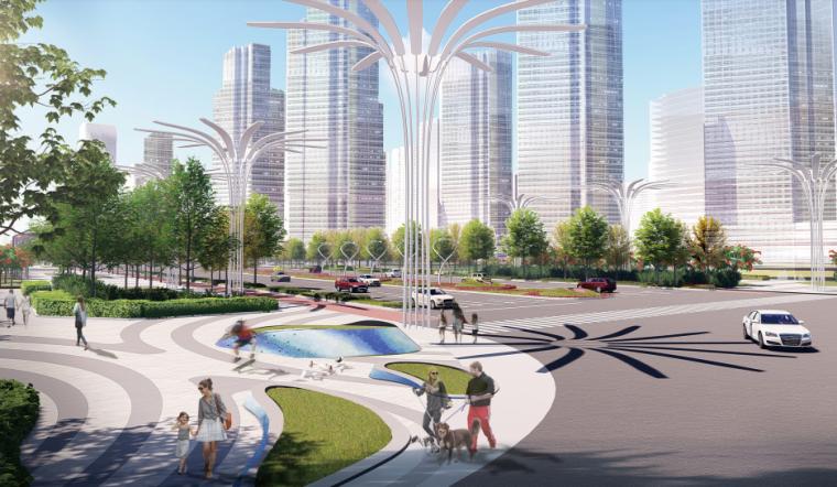[山东]青岛海洋活力滨海广场绿地景观设计-海艺湾效果图