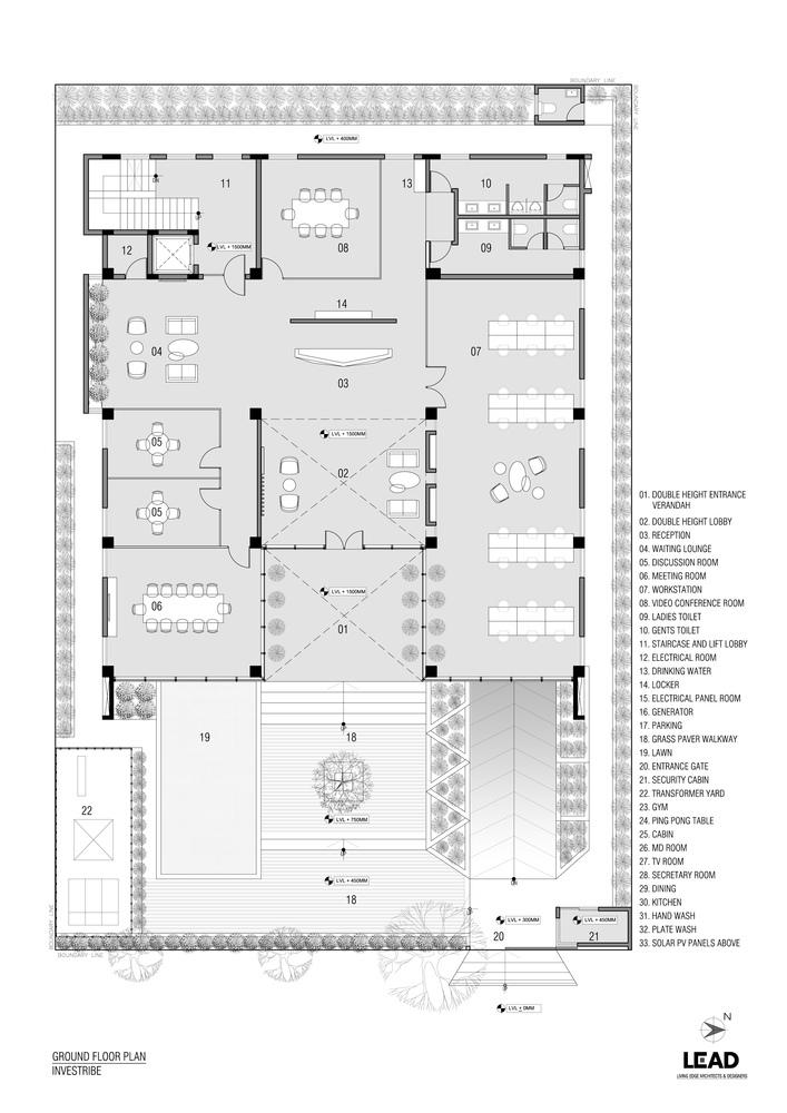 印度INVESTRIBE办公大楼平面图2