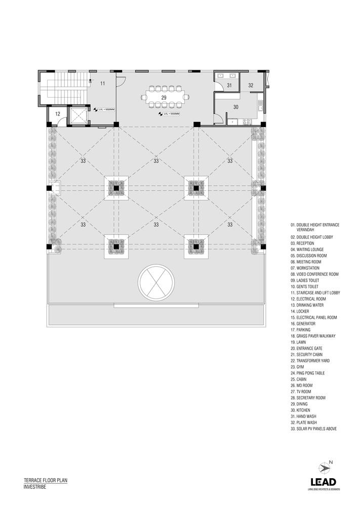 印度INVESTRIBE办公大楼平面图3