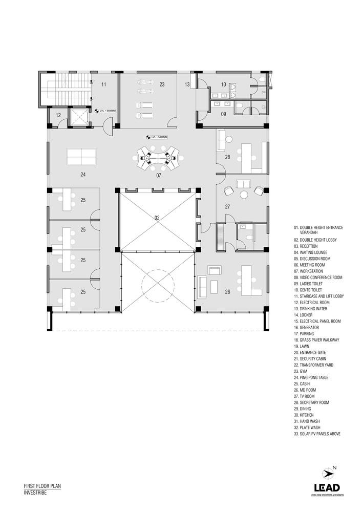 印度INVESTRIBE办公大楼平面图