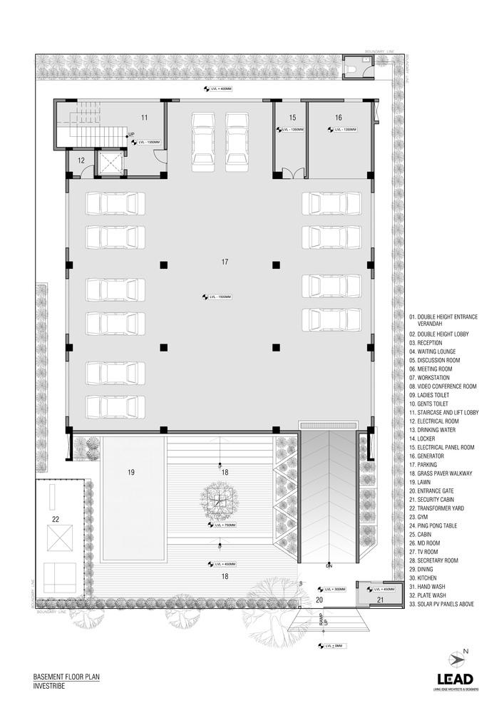 印度INVESTRIBE办公大楼平面图1