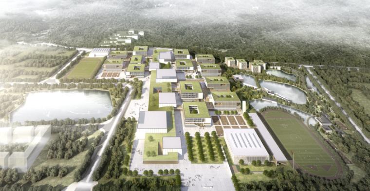 [广东]珠海中学工程设计建筑方案95页-1-珠海中学建筑设计方案