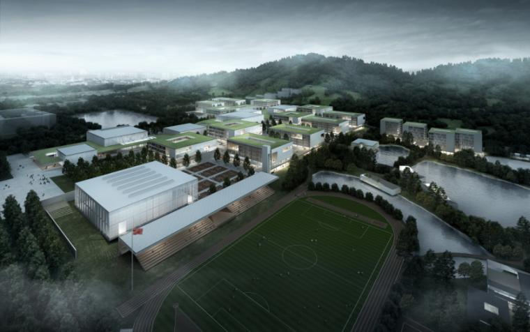 [广东]珠海中学工程设计建筑方案95页-2-珠海中学建筑设计方案