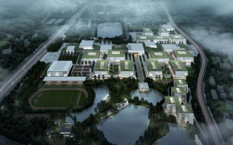 [广东]珠海中学工程设计建筑方案95页-3-珠海中学建筑设计方案
