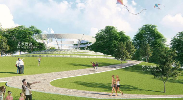 [山东]青岛海洋活力滨海广场绿地景观设计-绿丘效果图