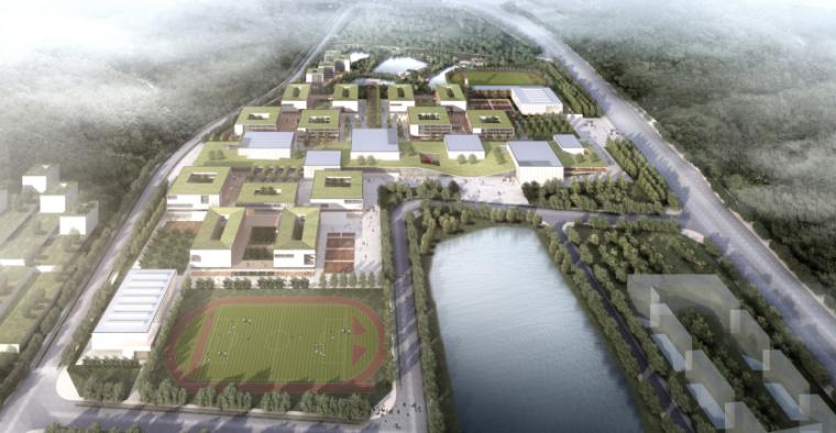 [广东]珠海中学工程设计建筑方案95页-4-珠海中学建筑设计方案