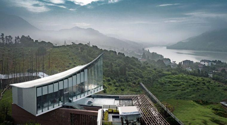 宁波中南菩悦·春山听湖售楼处外部实景图