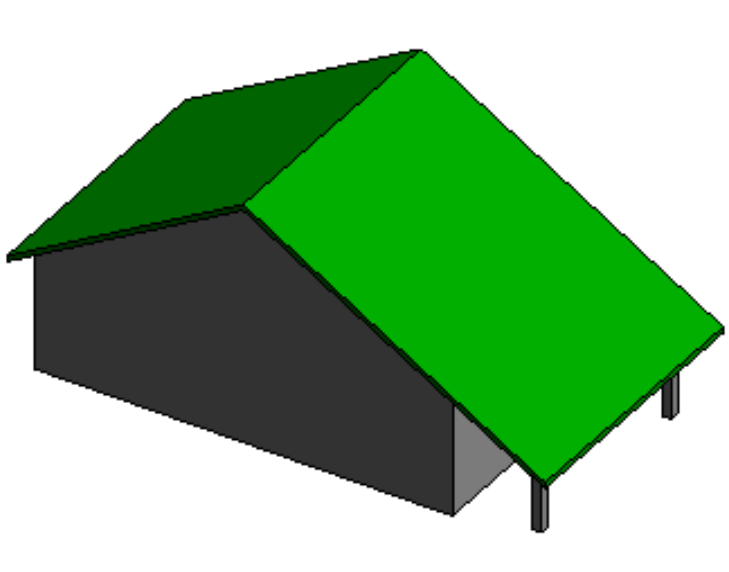 Revit软件技巧1.3.17基于墙的屋顶创建