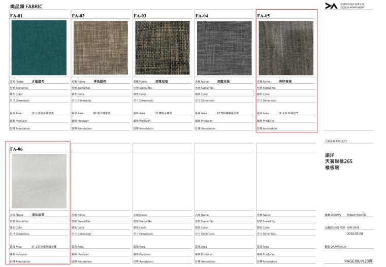 名企业现代风格别墅样板间材料总表 (8)