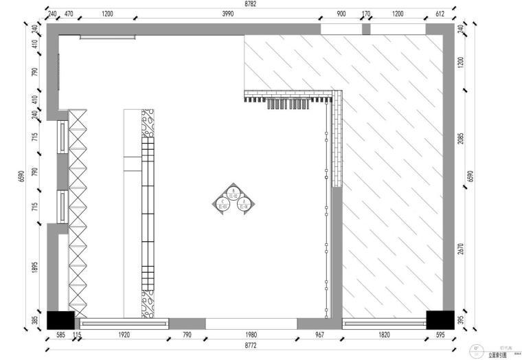 [广东]现代风沁-餐厅装修施工图设计+模型-立面索引图
