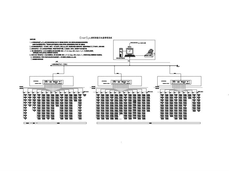 [广州]超高层办公楼电气施工图-7电力监控系统图_副本