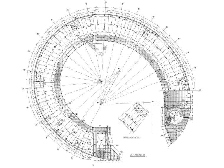 [上海]5层钢框架结构社区中心全套图纸2018-结构平面布置图