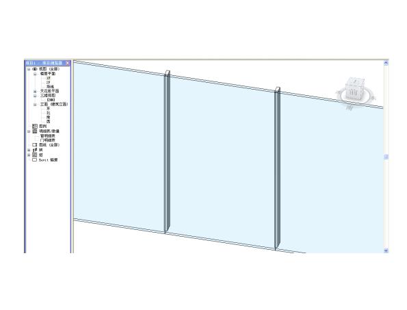 Revit软件技巧1.3.10幕墙隐框玻璃效果制作