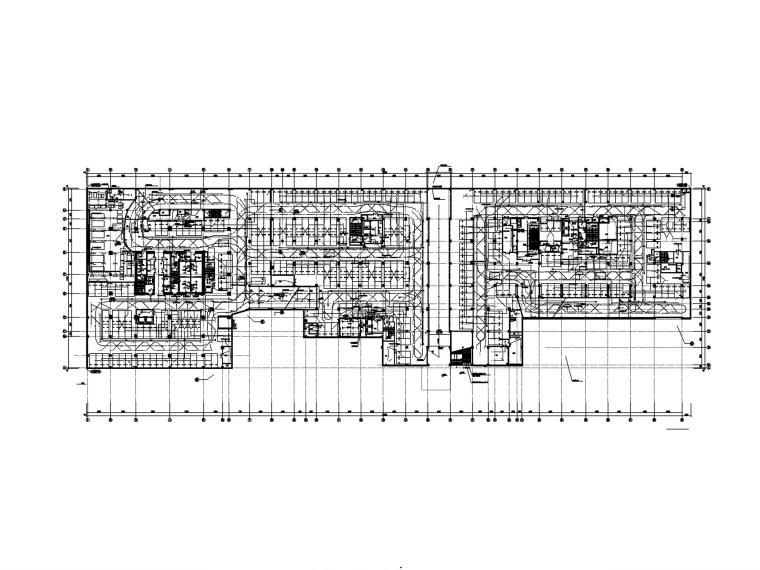 [广州]超高层办公楼电气施工图-1照明平面图_副本