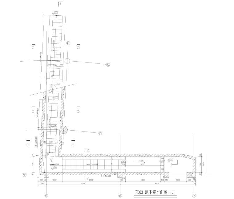 [上海]5层钢框架结构社区中心全套图纸2018-自行车坡道详图