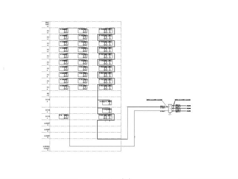 [广州]超高层办公楼电气施工图-9电气火灾及消防电源监控系统图_副本