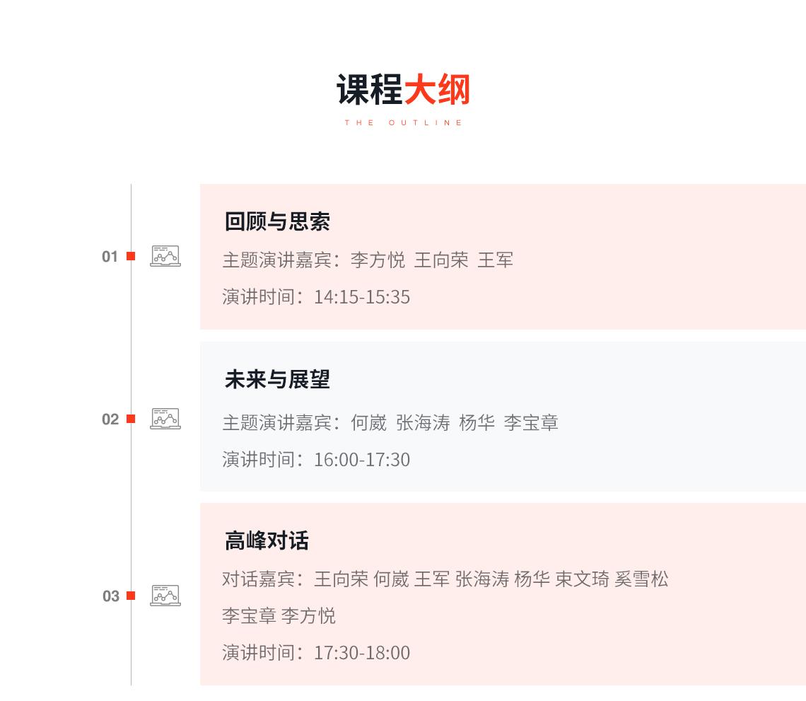 课程大纲:奥雅设计北京公司十周年论坛,此次论坛,奥雅设计北京公司特邀在过去十年专注于城市与景观发 展的艺术家、设计师、以及专家学者,从中国景观、文旅发展、景 观企业等多维度回顾和总结,碰撞新思索,展望未来的无限可能。