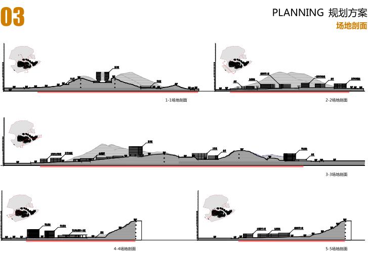中山大学深圳建设工程总体规划建筑设计2016-场地剖面
