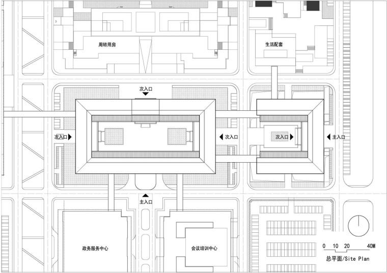 保定雄安党工委管委会及雄安集团办公楼平面图3
