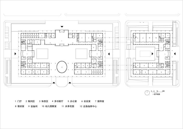 保定雄安党工委管委会及雄安集团办公楼平面图