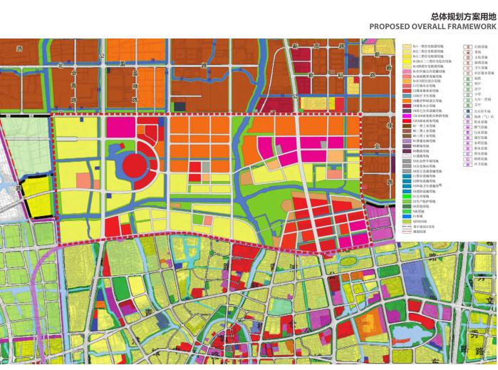 上海青浦河口地区城市设计规划_知名事务所-总体规划方案用地