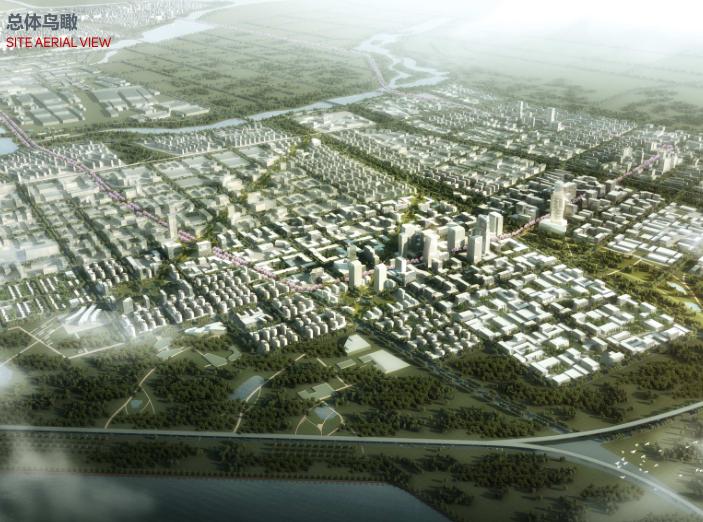 世界动车小镇国家创新中心概念规划城市设计-总体鸟瞰