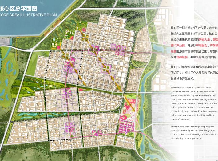 世界动车小镇国家创新中心概念规划城市设计-核心区总平面图
