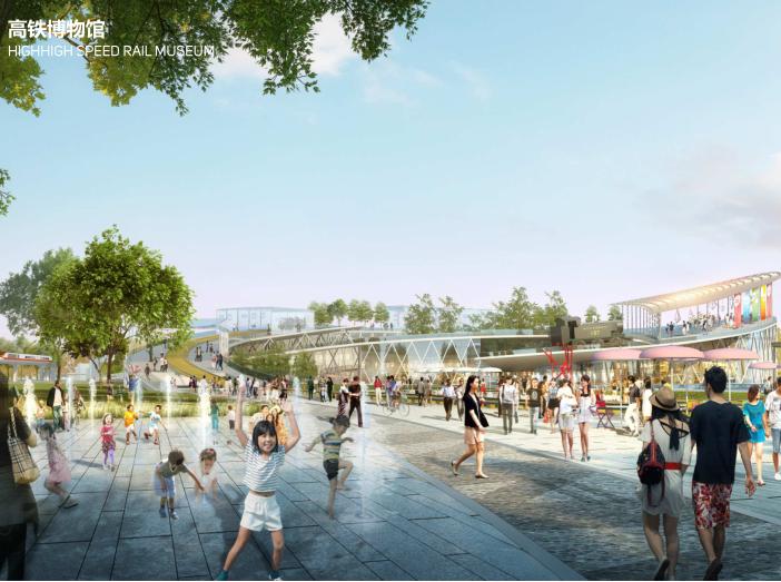 世界动车小镇国家创新中心概念规划城市设计-高铁博物馆
