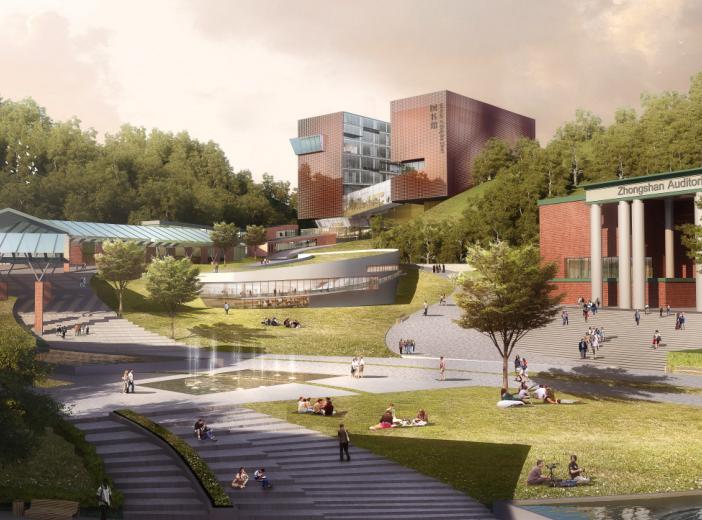 中山大学深圳建设工程总体规划建筑设计2016-效果图2