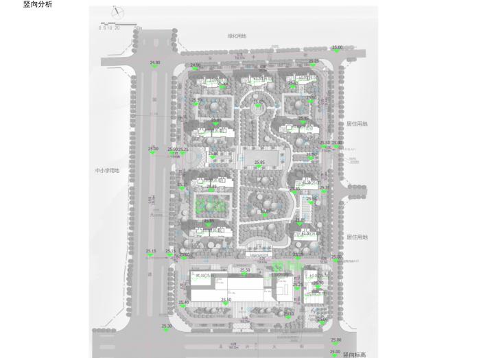 知名地产粹叠园住宅办公及配套建筑报建文本-竖向分析