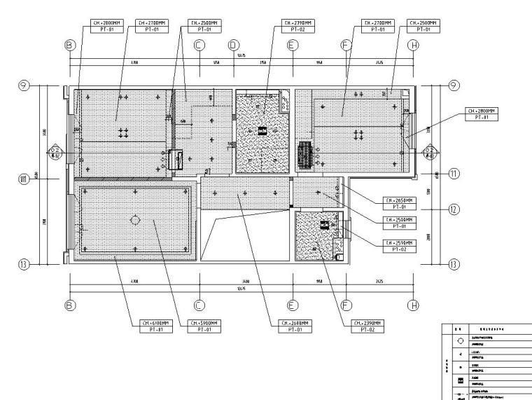 中加生态城样板间施工图+效果图-顶层立面索引图