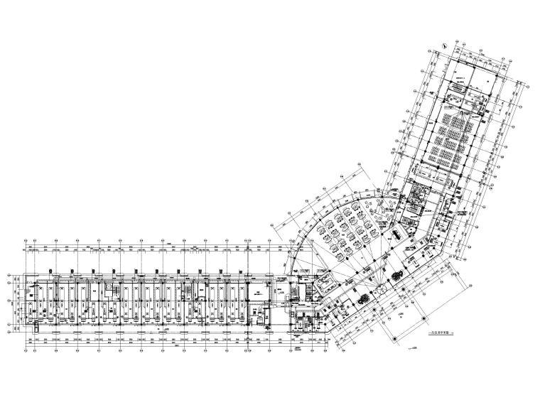 3.3万平高层酒店暖通施工图_通用节点图2018-一层空调平面图