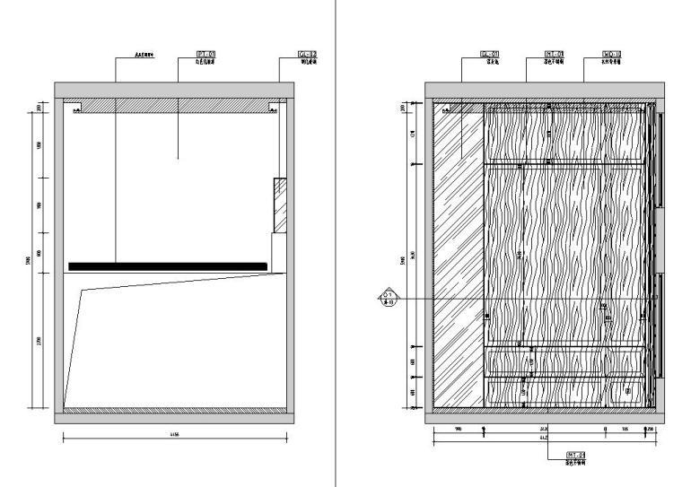 中加生态城样板间施工图+效果图-客厅立面图