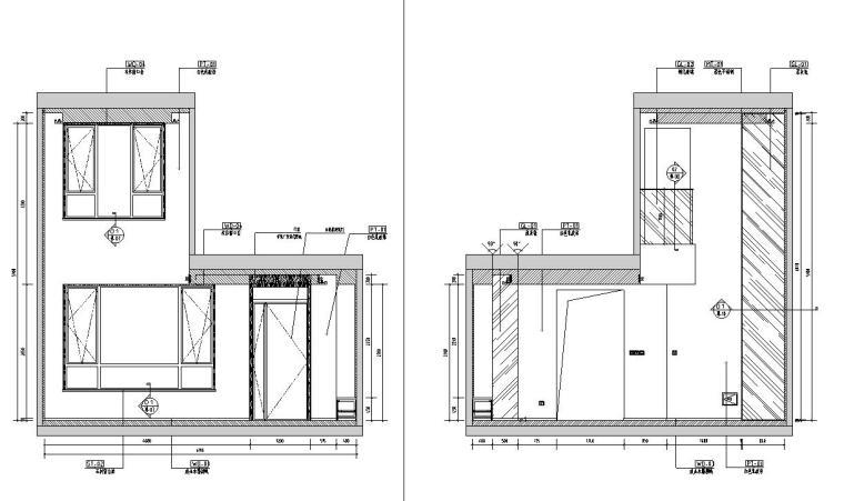 中加生态城样板间施工图+效果图-客厅立面图1