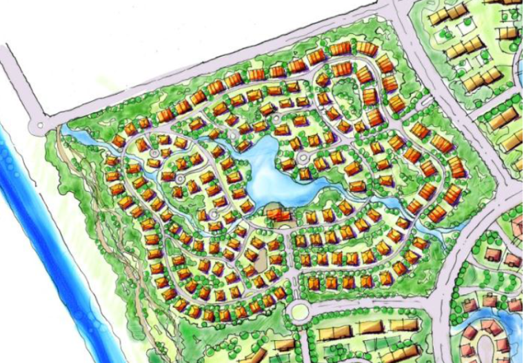 [辽宁]盘锦红海滩温泉小镇概念性规划方案-别墅区总平面图