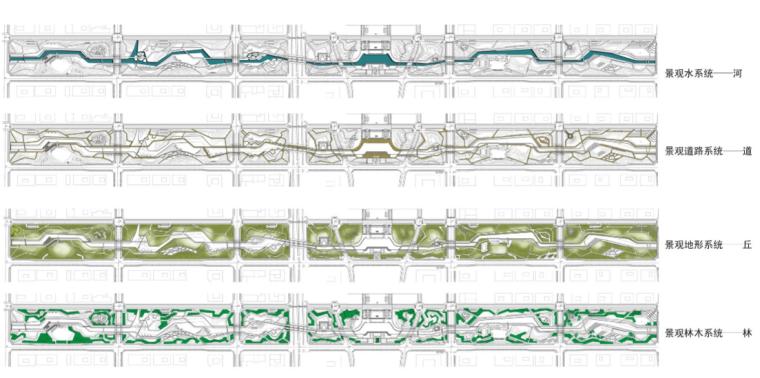 安徽芜湖商务文化中心中央公园景观设计方案-景观要素系统