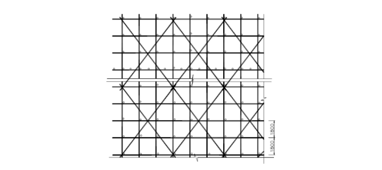 18层剪力墙结构住宅悬挑脚手架施工专项方案-03 剪刀撑设置