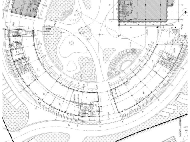 [上海]装配式产业园综合服务中心建筑施工图-2#(A区)一层平面图