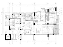 [三亚]四季公寓270㎡三居样板间装修施工图