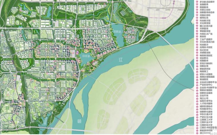 山东煤业塌陷区改造生态文化遗产公园群落-总平面图