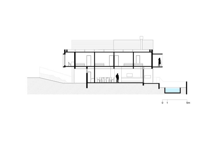 巴西daMata住宅-巴西da Mata住宅剖面图