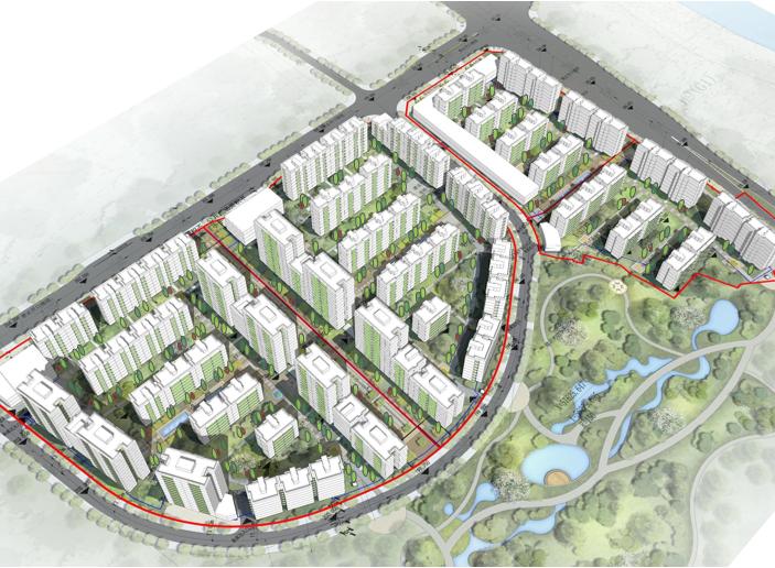 重庆重钢山地洋房_小高层住宅投标方案2020-鸟瞰图