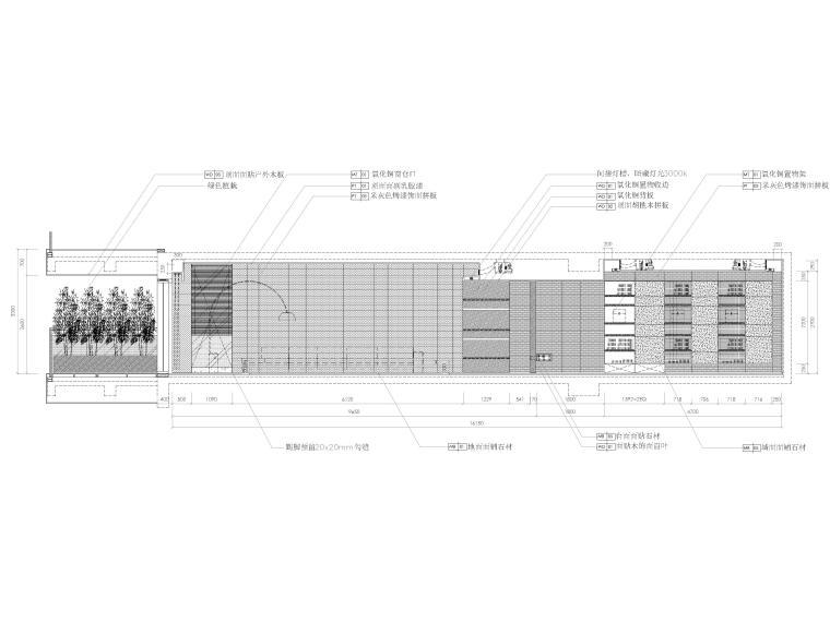 [三亚]四季公寓270㎡三居样板间装修施工图-横向剖立面图