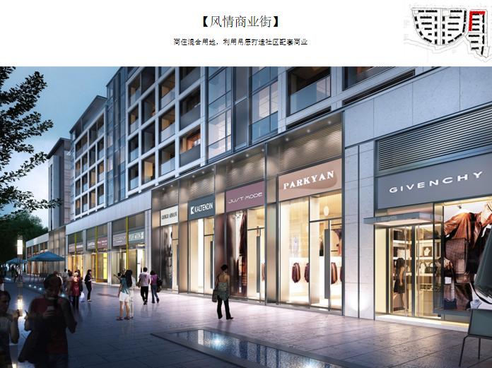 重庆重钢山地洋房_小高层住宅投标方案2020-商业街效果图