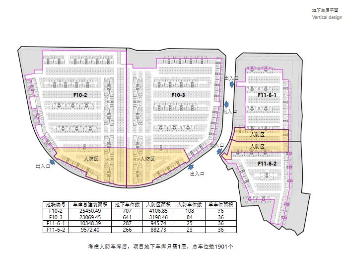 重庆重钢山地洋房_小高层住宅投标方案2020-地下车库平面