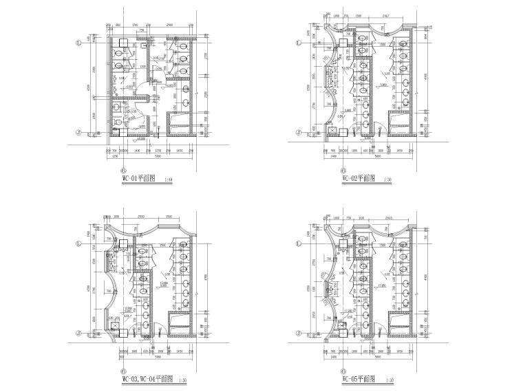 [上海]装配式产业园综合服务中心建筑施工图-卫生间详图